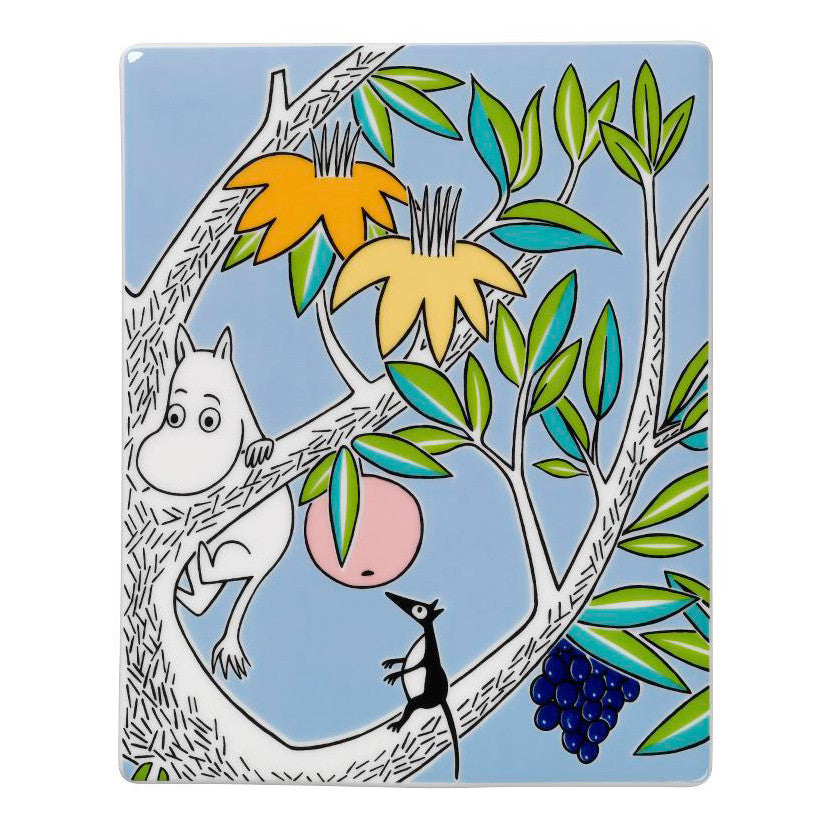 Moomin Moomintroll Green Wall Tile 15cm by 19cm