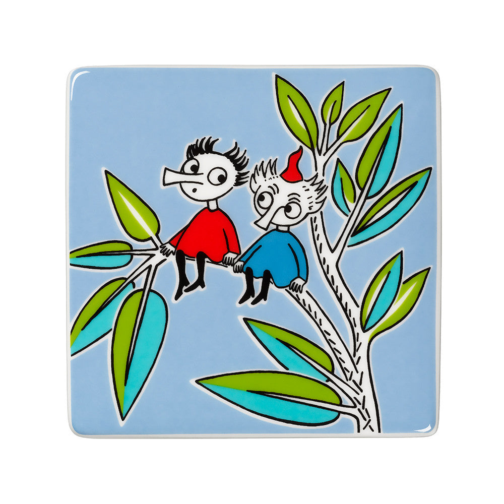 Moomin Thingumy And Bob Plaque 9cm By 9cm