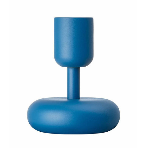 Iittala Nappula Blue Candle Holder 10.7cm