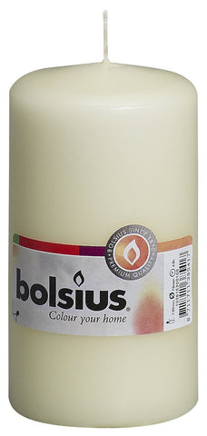Bolsius Essentials Ivory Pillar Candle 13cm by 7cm