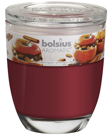 Bolsius Aromatic Baked Apple Large Glassware Candle