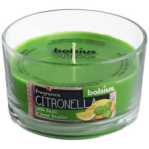 Bolsius April Rotation Citronella and Basil Glassware Candle