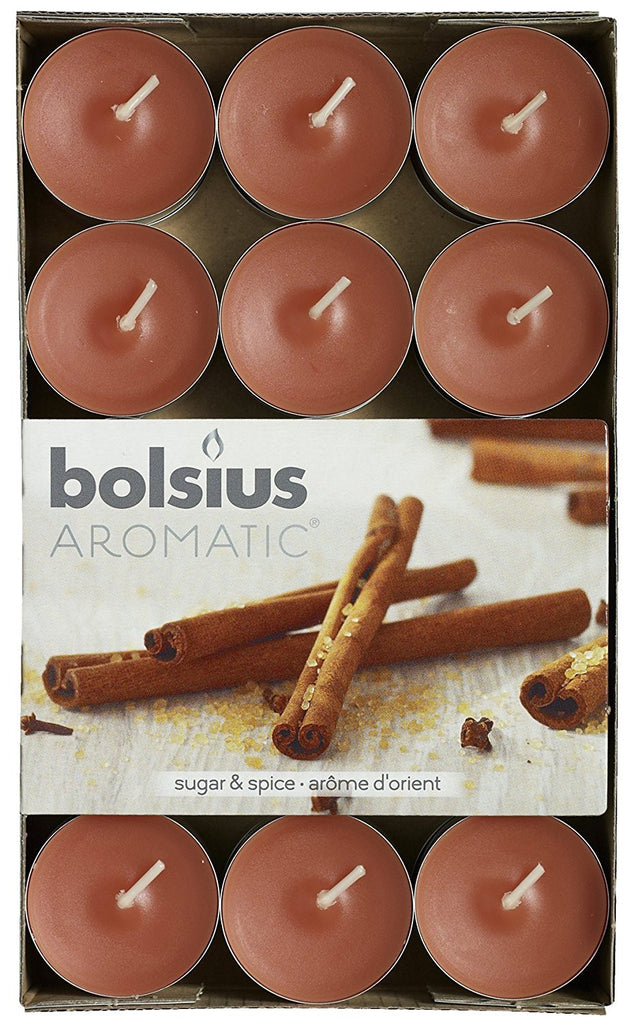Bolsius Aromatic Sugar and Spice Tealights (Set of 30)