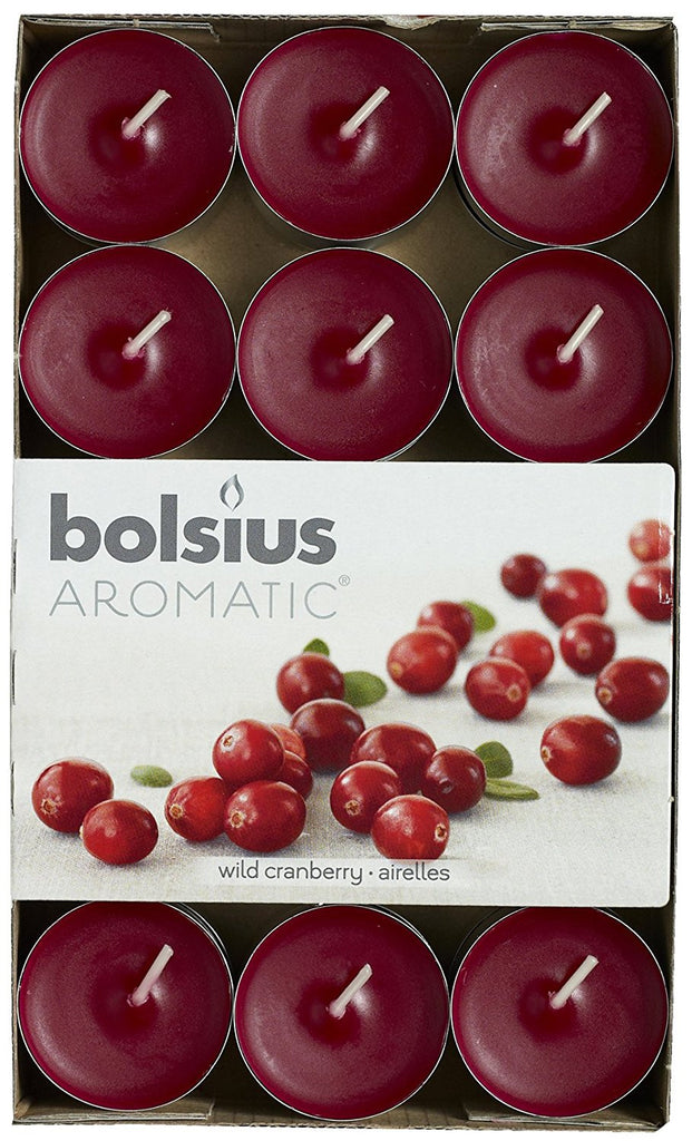Bolsius Aromatic Wild Cranberry Tealights (Set of 30)