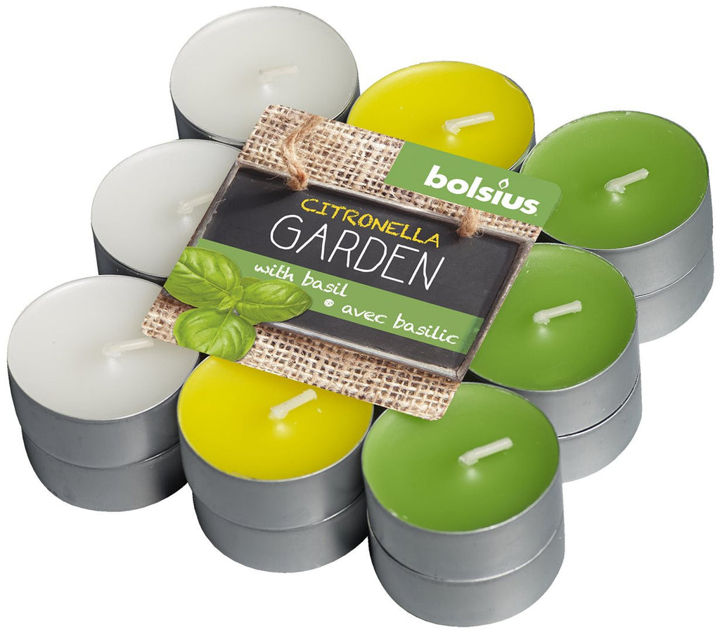 Bolsius April Rotation Citronella and Basil Tealights (Set of 18)