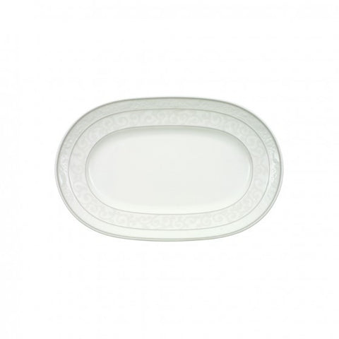 Villeroy and Boch Grey Pearl Oval Platter 41cm