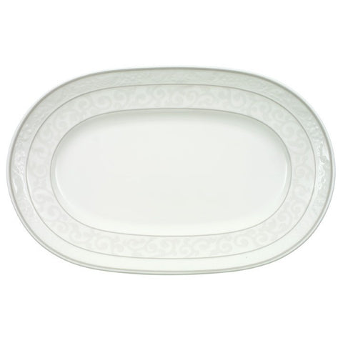 Villeroy and Boch Grey Pearl Pickle Dish 22cm