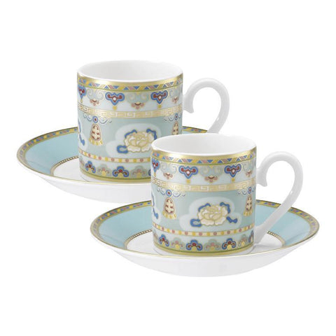 Villeroy and Boch Samarkand Aqua Marin Espresso Cup and Saucer (Pair)