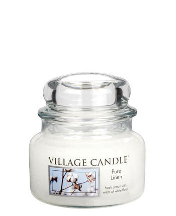 Village Candles Pure Linen Small Candle Jar