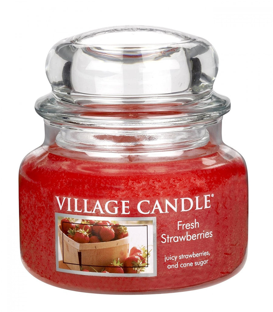 Village Candles Fresh Strawberries Small Candle Jar