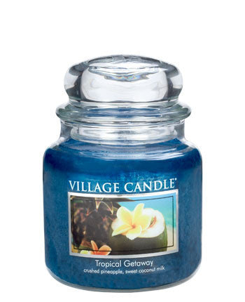 Village Candles Tropical Getaway Medium Candle Jar