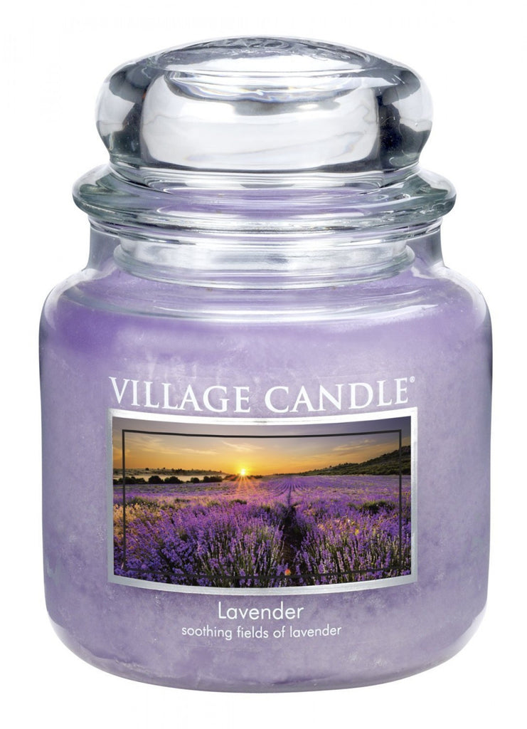 Village Candles Lavender Medium Candle Jar