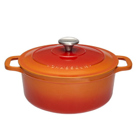 Chasseur Flame Round Casserole Dish 26cm