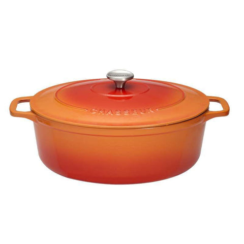 Chasseur Flame Oval Casserole Dish 29cm