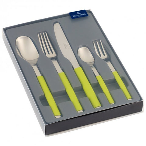 Vileroy and Boch S+ Kiwi 5 Piece Cutlery Set