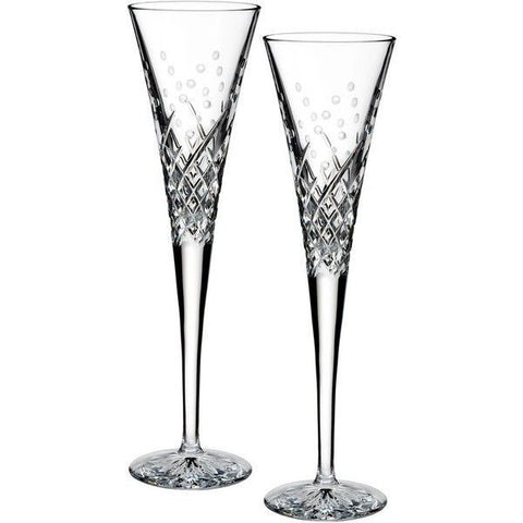 Waterford Crystal Occasions Happy Celebration Toasting Flute 22.5cm