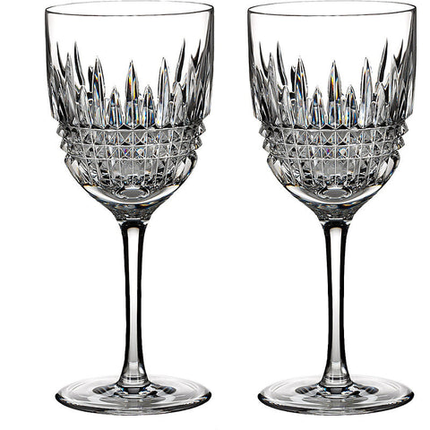 Waterford Crystal Lismore Diamond Red Wine Glass 20cm (Pair)