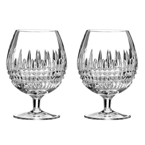 Waterford Crystal Lismore Diamond Brandy Glass Pair