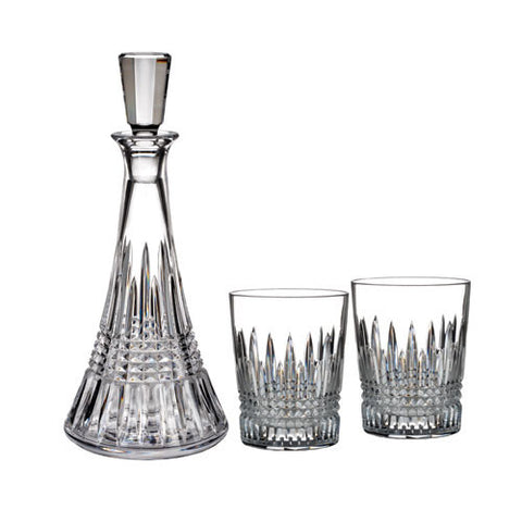 Waterford Crystal Lismore Diamond Decanter and Tumber Pair Set