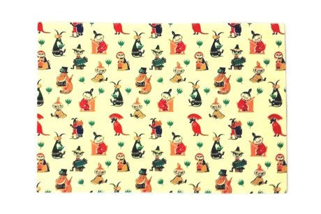 Moomin 50s pattern Tea Towel 70cm by 50cm