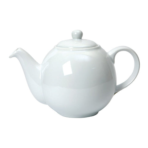 London Pottery Globe White Teapot 1.10L