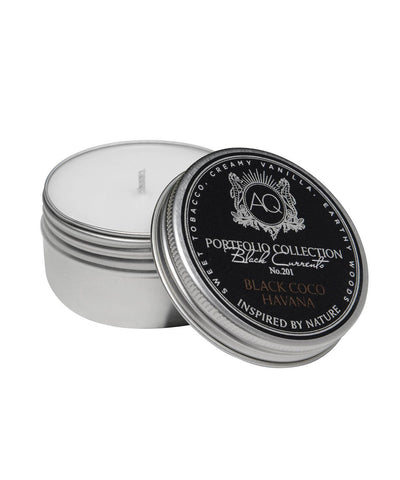 Aquiesse Black Coco Havana Decorative Tin Candle