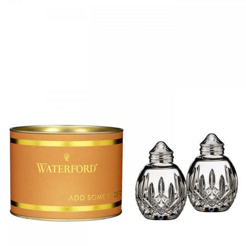 Waterford Crystal Giftology Lismore Round Salt & Pepper Set