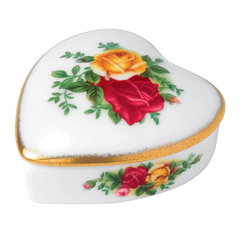 Royal Albert Old Country Roses Heart Box
