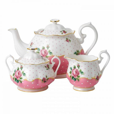 Royal Albert Cheeky Pink 3 Piece Tea Set
