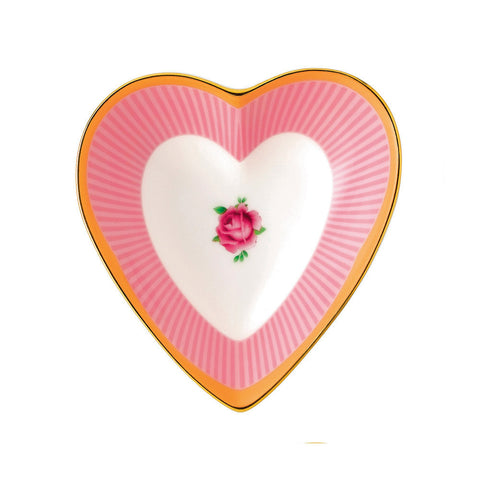 Royal Albert Candy Collection Sweet Stripe Heart Tray 13cm