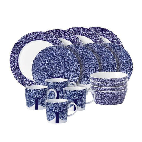 Royal Doulton Fable Blue Tree 16 Piece Set