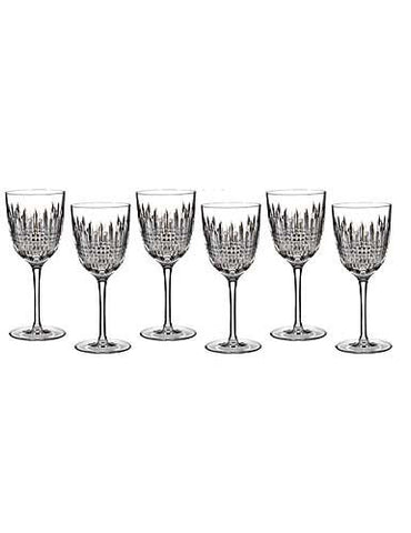 Waterford Crystal Lismore Diamond Goblets (Set of 6)