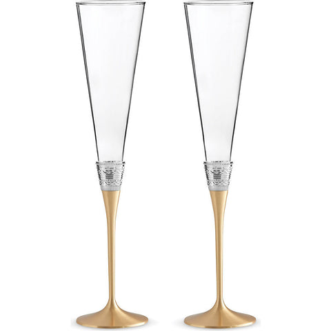 Wedgwood Vera Wang With Love Gold Toasting Flute (Pair)