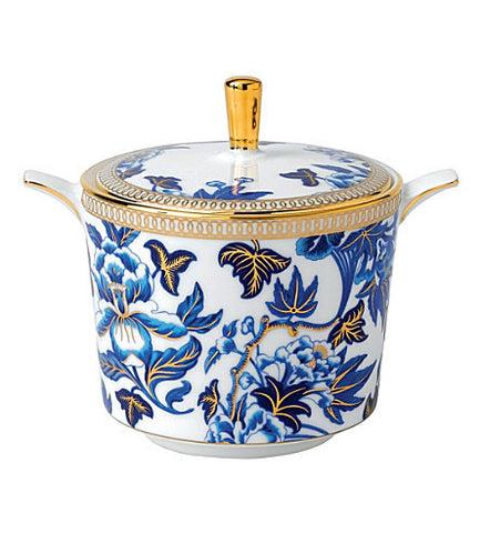 Wedgwood Hibiscus Blue Covered Sugar Bowl