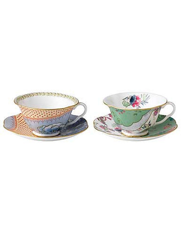 Wedgwood Butterfly Bloom Peony and Posy Teacup and Saucer