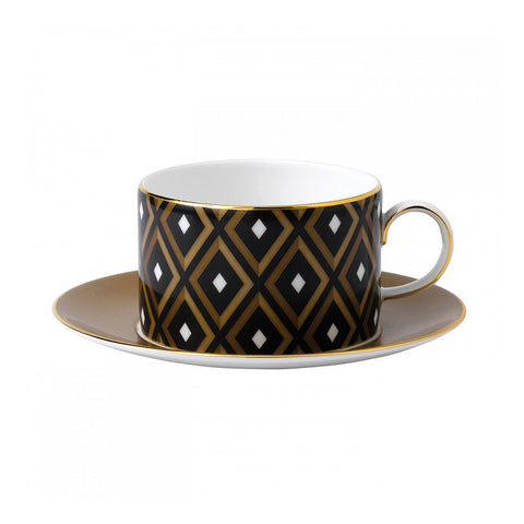 Wedgwood Arris Geometric Teacup And Saucer