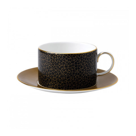 Wedgwood Arris Crackle Teacup And Saucer