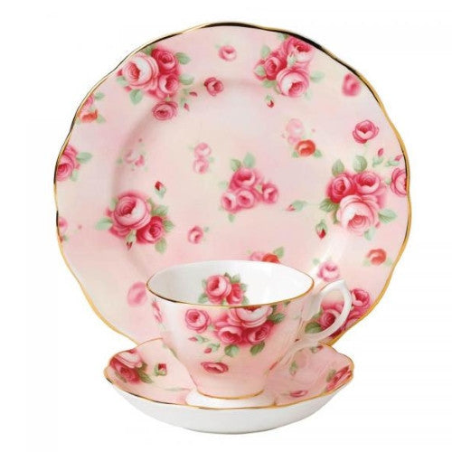 Royal Albert Rose Blush 1980 3 Piece Set