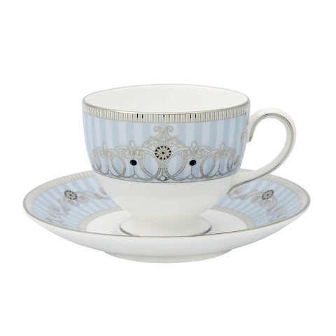 Wedgwood Alexandra Blue Teacup and Saucer (Gift Boxed)