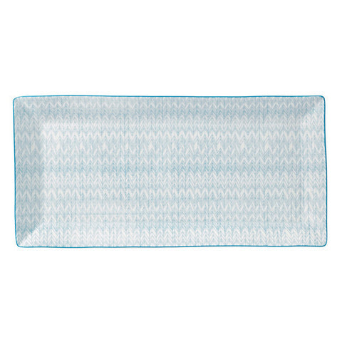 Royal Doulton Pastels Herringbone Rectangular Tray 39cm