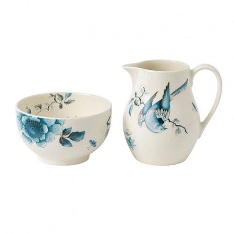 Wedgwood Blue Bird Sugar and Creamer Set