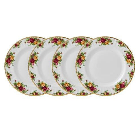 Royal Albert Old Country Roses Plate 27Cm (Set Of 4)