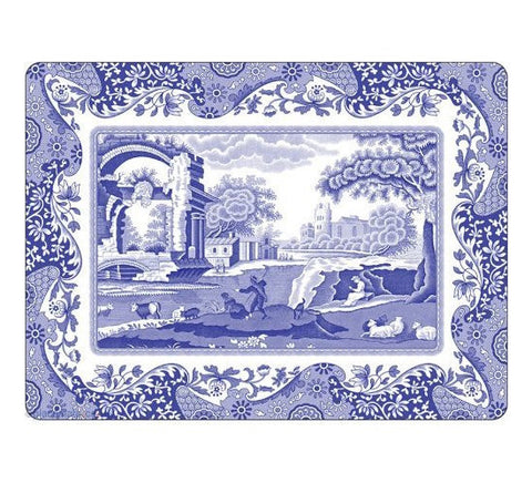Spode Blue Italian Large Placemats 40.1cm by 29cm (Set of 4)