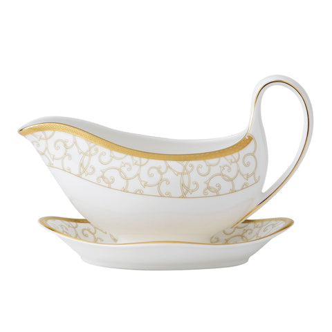 Wedgwood Celestial Gold Sauceboat Saucer (Saucer Only)