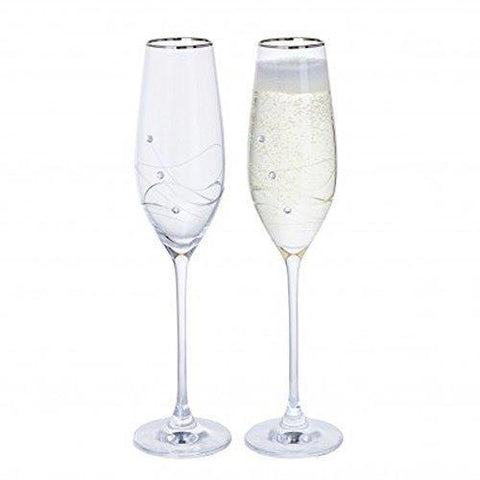 Dartington Crystal Glitz Silver Flute (Pair)