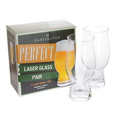 Dartington Crystal Just For You Lager Glass (Pair)