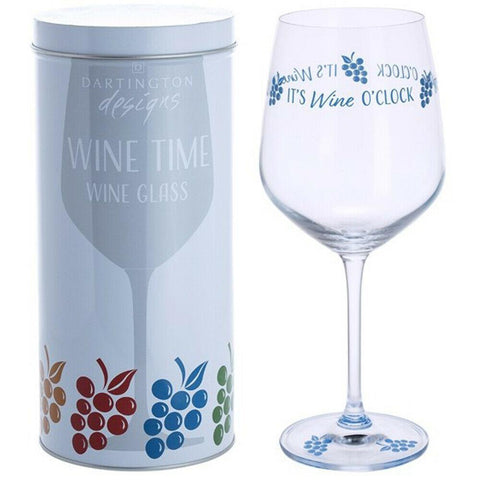 Dartington Crystal Wine Time It's Wine O' Clock Wine Glass 0.59L