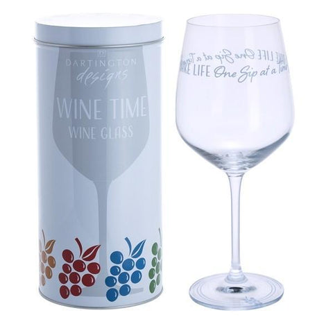 Dartington Crystal Wine Time Take Life One Sip At A Time Wine Glass 0.59L
