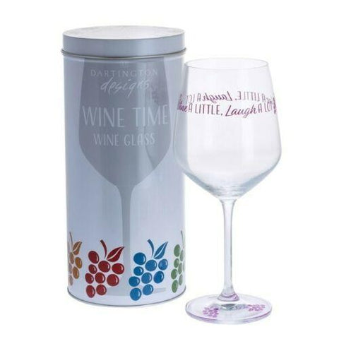 Dartington Crystal Wine Time Wine a Little, Laugh A Lot Wine Glass 0.59L