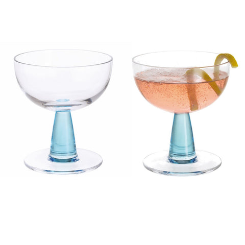 Dartington Crystal Gin Connoisseur Blue Cocktail Glass 0.21L (Pair)